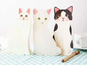 3D Kattenkaarten met Envelop de kaarten kunnen rechtop staan
