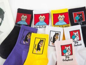 Koppel Sokken met Kattenprint | Maat 36-43