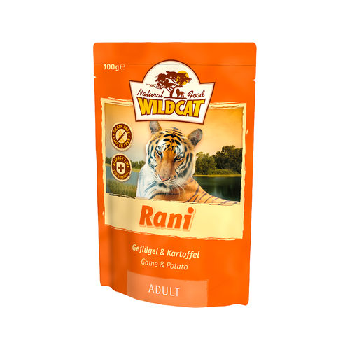Wildcat Natvoer voor Katten 100g Rani (met gevogelte & aardappelen)