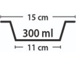 Schuine Voerbak voor Katten 15cm 300ml