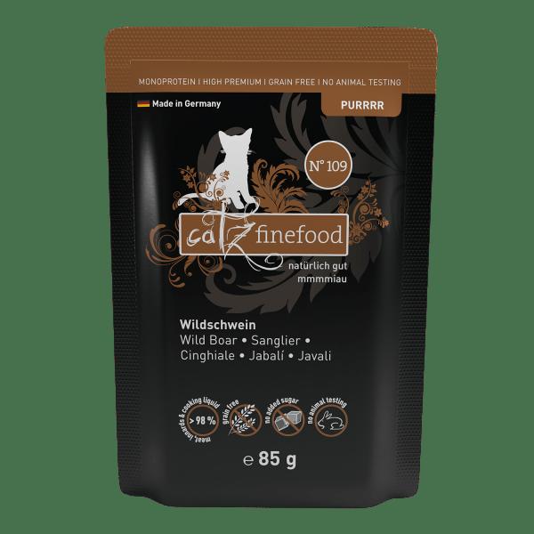 Catz finefood Purrrr N°109 – Wild zwijn 85g