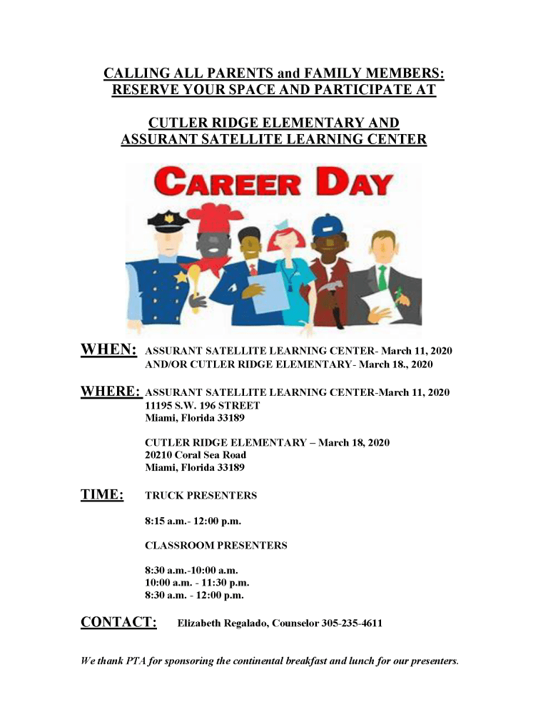 Career Day Flyer