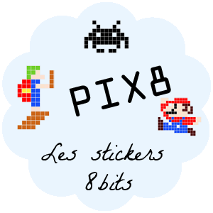 Pix 8 - Stickers 8 bits