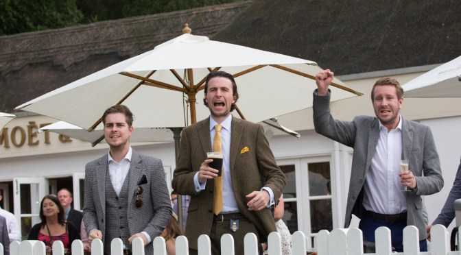 Gentleman's Day of the Moet & Chandon July Festival at The Adnams July Course in Newmarket