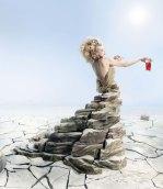 milla jovovich campari calendar stone dress