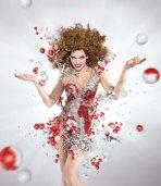 milla jovovich campari calendar coke bubbles