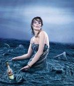 milla jovovich campari calendar stormy sea