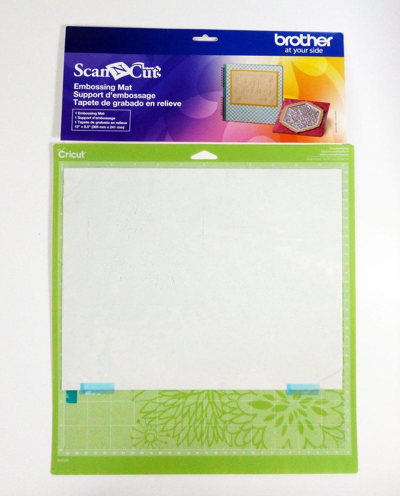 Scan N Cut embossing mat on a Cricut mat.