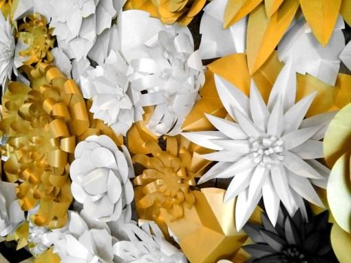 Cutteristic - White Gold Paper Flower 8
