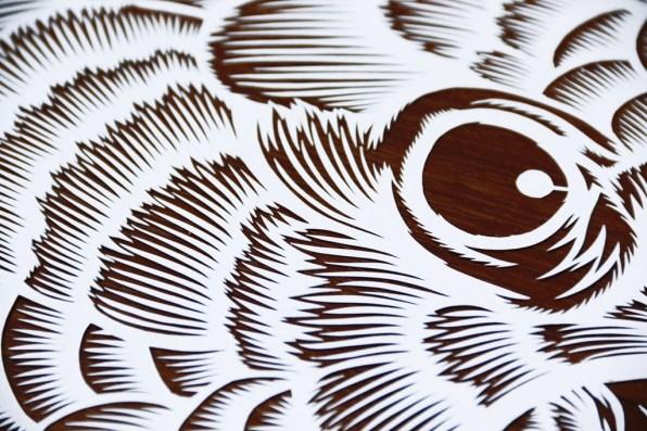 Paper cutting burung kakak tua, parrot