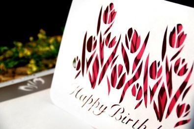 Cutteristic - Kartu Ulang Tahun Tulip Pink 4