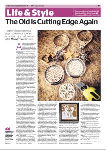 Cutteristic - Jakarta Globe, page 21, Marcel Thee