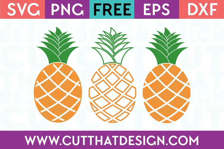 Download Free SVG Files | Pineapple Designs Set Cut That Design