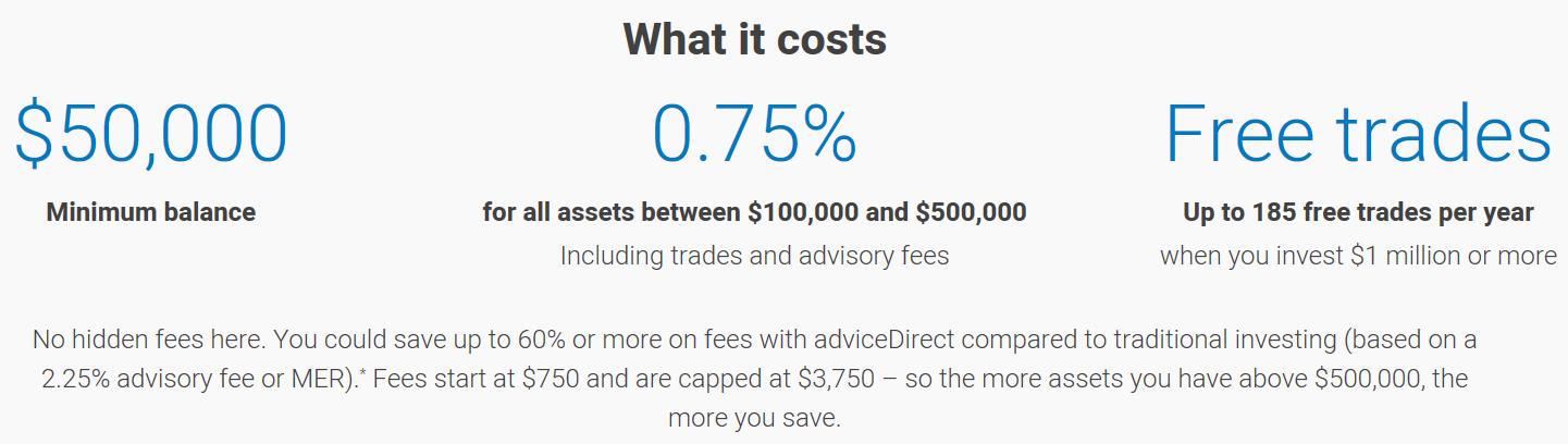 adviceDirect Fees