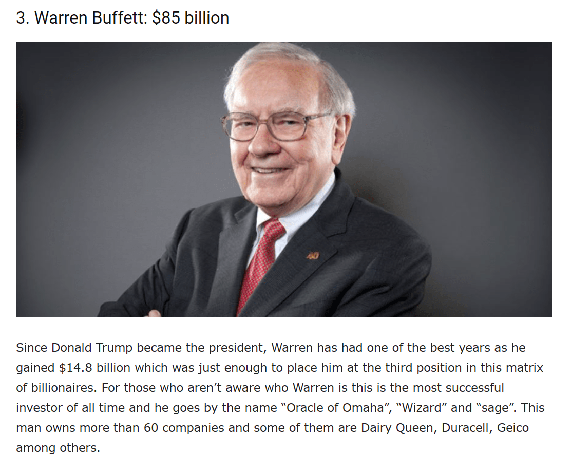 Warren Buffett Richest Man