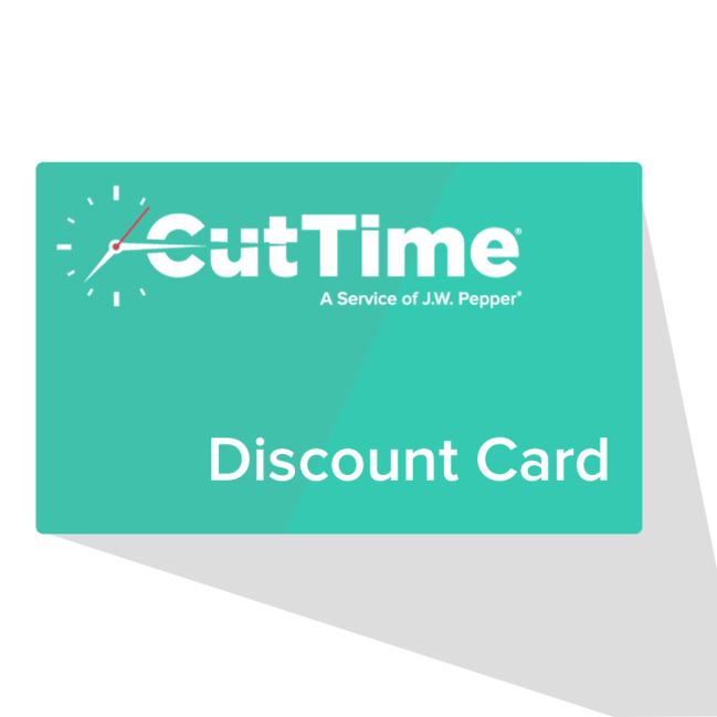 This image has an empty alt attribute; its file name is CutTimeDiscountCard.png