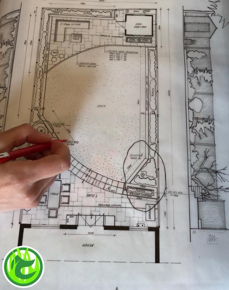 Garden design on paper