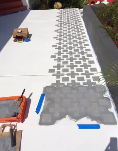 Learn How To Stencil A Pretty Patio Stencil Stories   Painting Outdoor Concrete Steps   Behr Premium   Epoxy   Front Porch   Deck   Slip Resistant