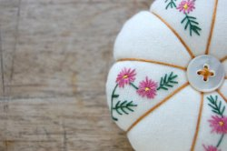 Embroidered Pincushion by Harper and Finch