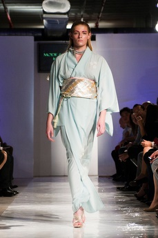 Hiromi Asai's 'Mode and Classic' SS12 Collection 'FUSION' on the runway at BK Fashion Week(end), New York
