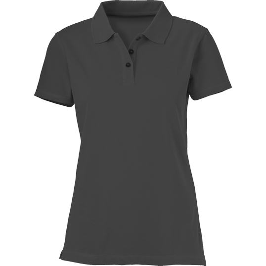 Plain Dark Gray Women S Polo Shirt Cutton Garments