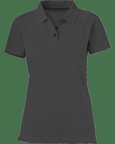 Plain Heather Gray Women s Polo Shirt – Cutton Garments 7a0d393e44