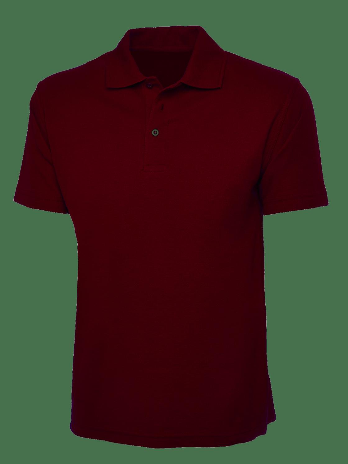 plain maroon polo shirt cutton garments