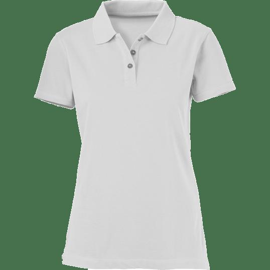 5c33bdfe Plain White Ladies Polo Shirt – Cutton Garments