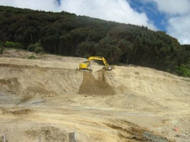 Carrying out bulk earthworks