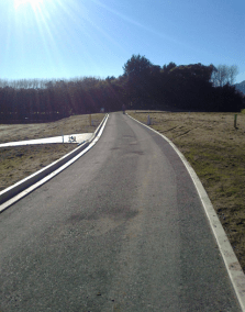 The completed right of way and kerbs
