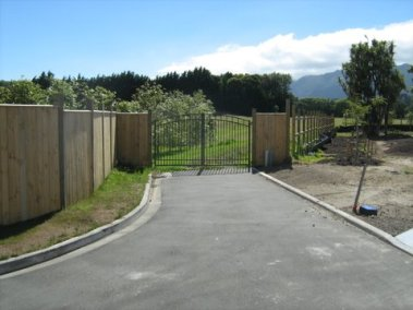 The site entrance, before work starts