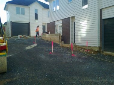 5 Setting out driveway and kerb