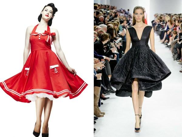 Платья в стиле 50-х годов – буйство красок и фасонов ...