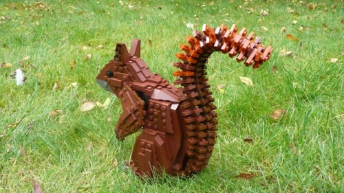 LEGO red squirrel on LEGO CUUSOO