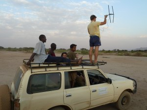 Part of the group (and Guy, and some of the other Lale'enok staff) VHF/radio tracking