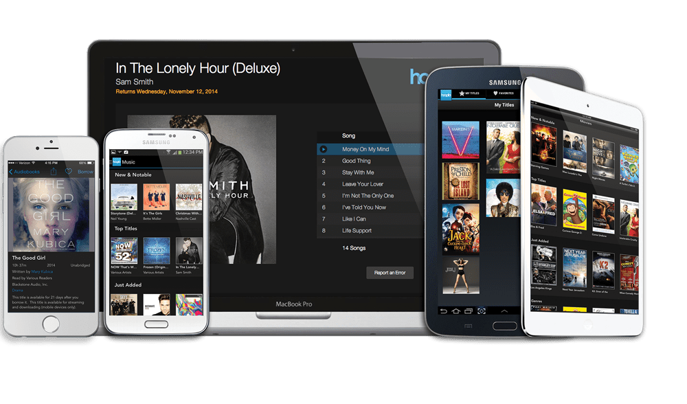 Borrow free movies, music, and more with Hoopla