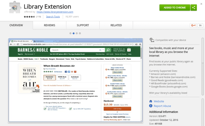 Library Extension example