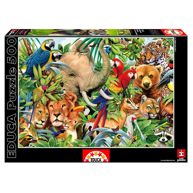 Cuy Games - 500 PIEZAS - MUNDO ANIMAL -