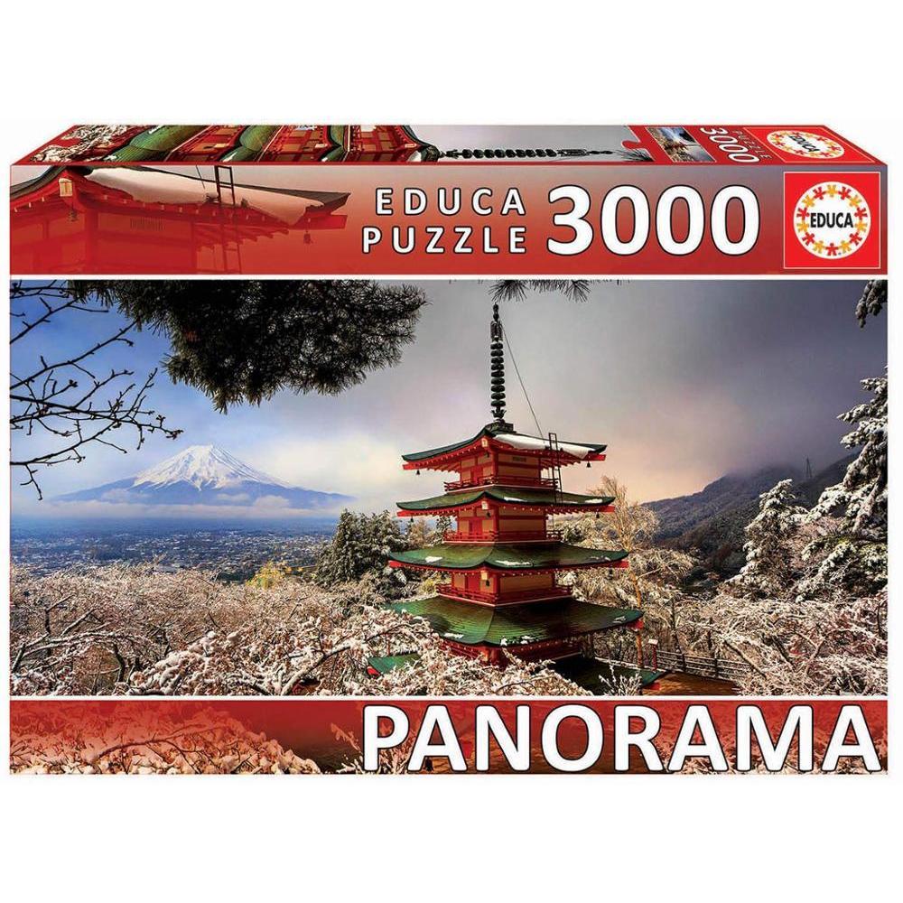 Cuy Games - 3000 PIEZAS - MONTE FUJI Y PAGODA CHUREITO, JAPON PANORAMA -