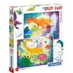 Cuy Games - INFANTIL - 2 EN 1 FUNNY DINOS -