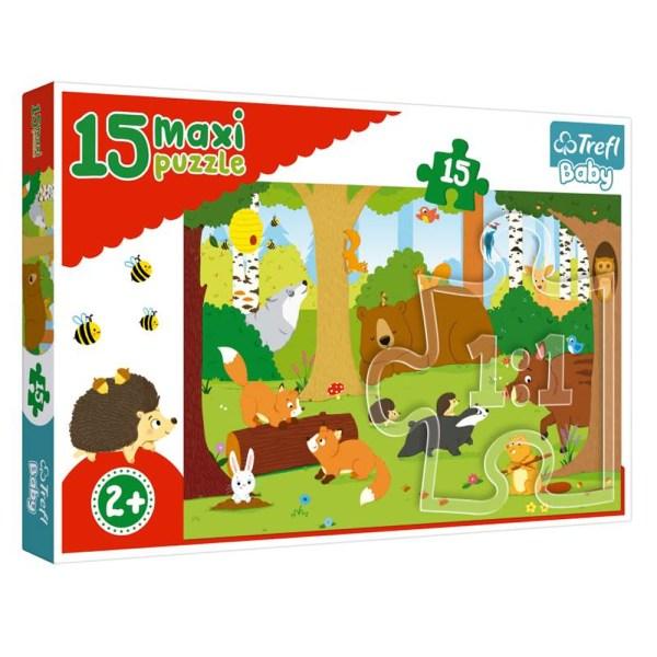 Cuy Games - INFANTIL - MAXI 15 PIEZAS - ANIMALES EN EL BOSQUE -