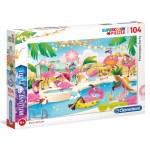 Cuy Games - INFANTIL - 104 PIEZAS - FLAMINGOS PARTY -