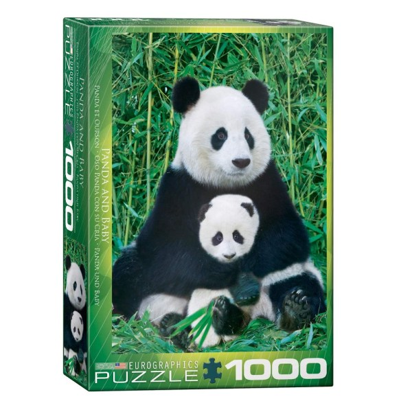 Cuy Games - 1000 PIEZAS - PANDA AND BABY -
