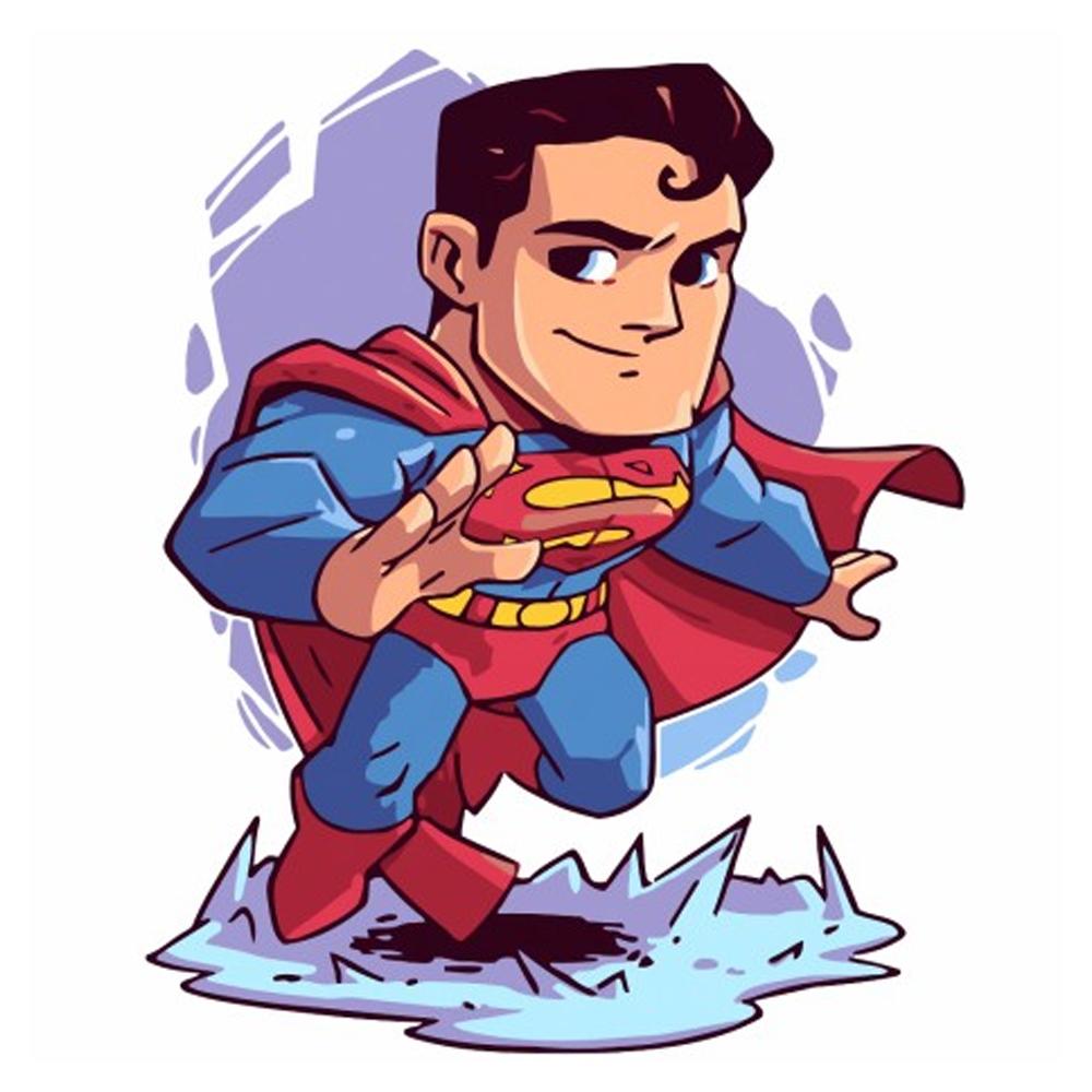 Cuy Games - CUADRO PINTURA AL OLEO - SUPER MAN 25X25 -