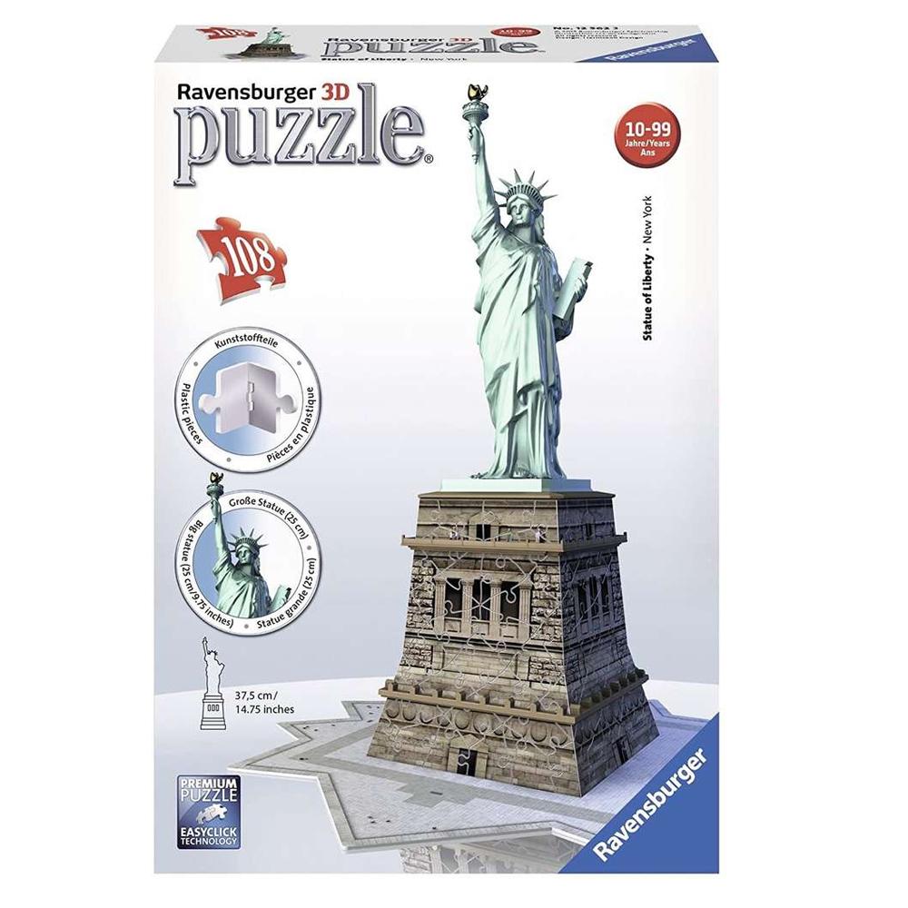 Cuy Games - 118 PIEZAS - STATUE OF LIBERTY 3D -