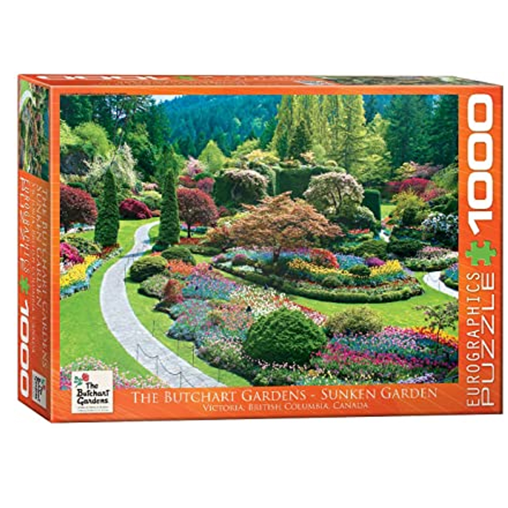 Cuy Games - 1000 PIEZAS - Butchart Gardens-Sunken Garden -