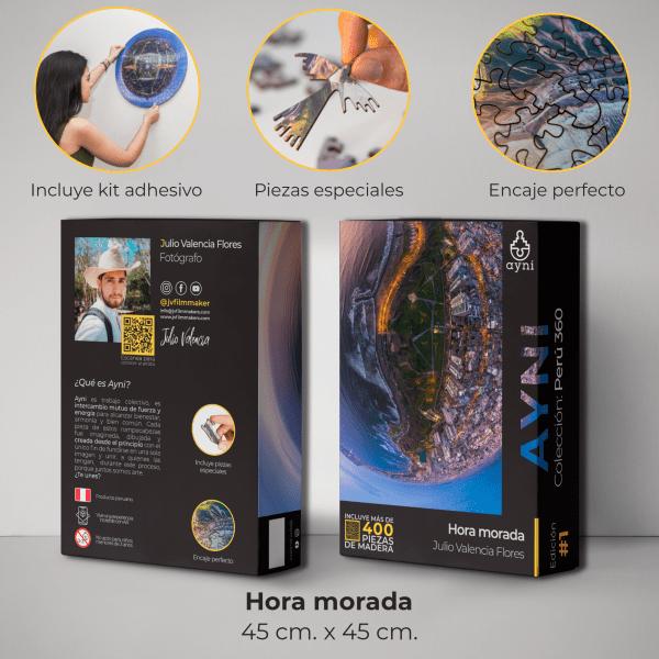 400 PIEZAS – HORA MORADA