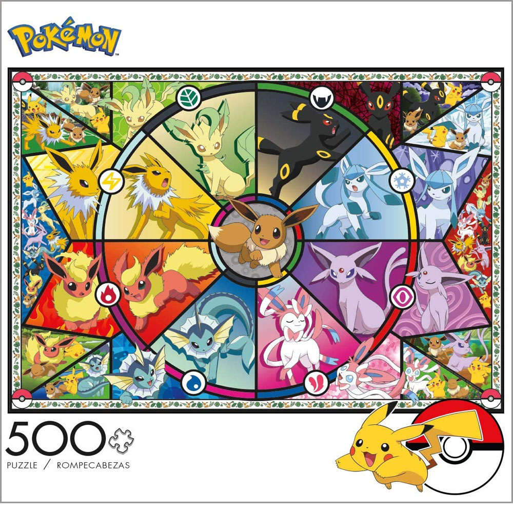 Cuy Games - 500 PIEZAS - EEVEE STAINET GLASS -