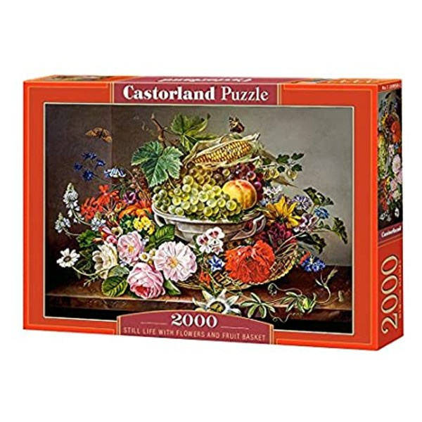 2000 PIEZAS – STILL LIFE WITH FLOWERS AND FRUIT BASKET