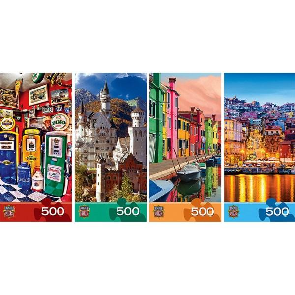 Cuy Games - 500 PIEZAS - MASTERS OF PHOTOGRAPHY 4 EN 1 PUZZLES -